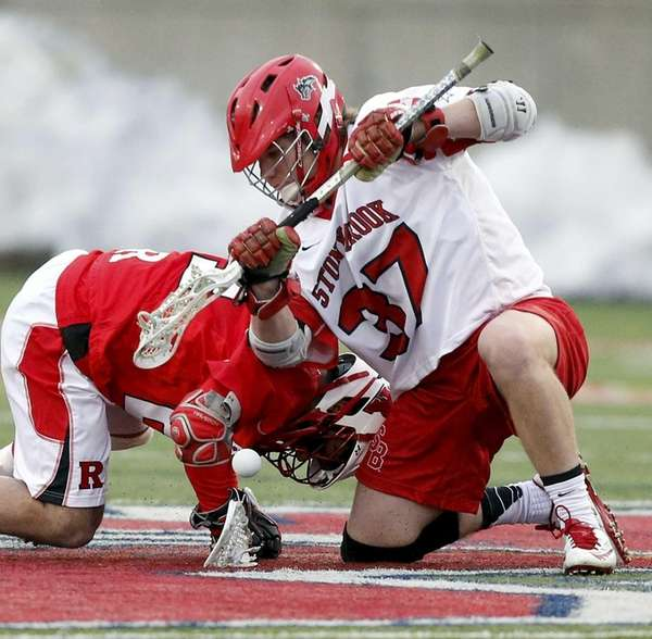 Stony Brook's face-off man Kyle Rowe won 16