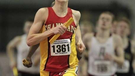 Thomas Slattery of Chaminade competes in the 4X800
