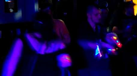 Dancing to EDM Saturday, March 1, 2014, at