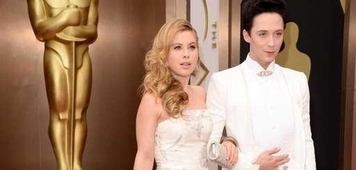 Johnny Weir and Tara Lipinski arrive on the