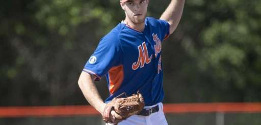 Steven Matz during pitching drills at spring training