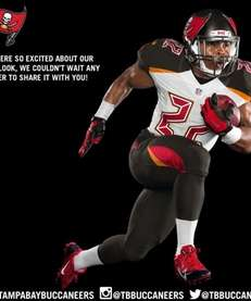 Tampa Bay Buccaneers' new uniform