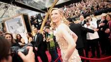 Cate Blanchett arrives for the Oscars on March