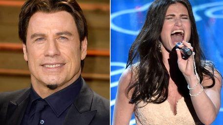 John Travolta, left, at a post-Oscars party, after