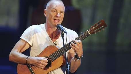 Sting performs during the Italian State RAI TV