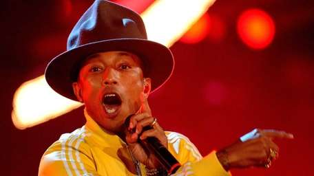 Pharrell Williams performs during the German television show