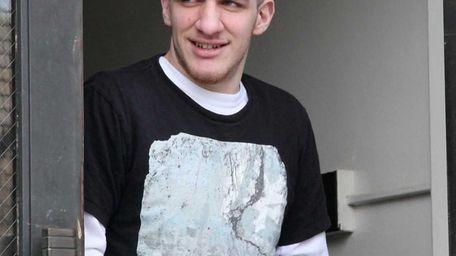 Jonathan Roth, 23, of Massapequa, leaves Nassau County