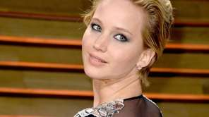 Jennifer Lawrence attends the 2014 Vanity Fair Oscar