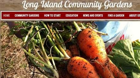 The Long Island Community Gardens website, which launched