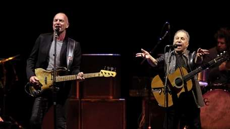 Sting and Paul Simon perform together at Madison