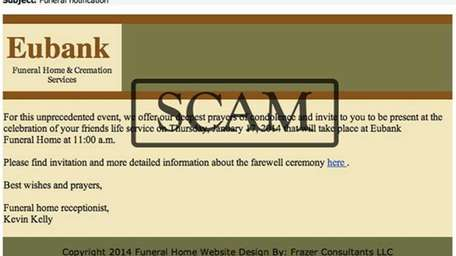 Many of the scam emails purportedly come from