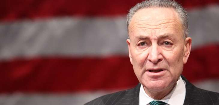 Sen. Charles Schumer speaks on Jan. 2, 2014,