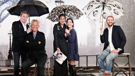 Fashion designers Mark Badgley, James Mischka, Cynthia Rowley