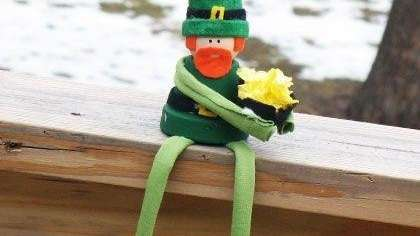 The clay pot leprechaun craft can be found
