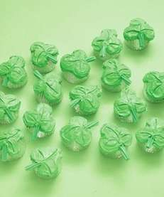 The clover cupcake recipe can be found on