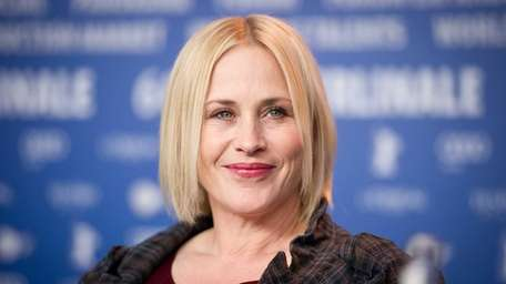 Patricia Arquette attends a press conference for