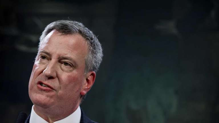 New York City Mayor Bill de Blasio said