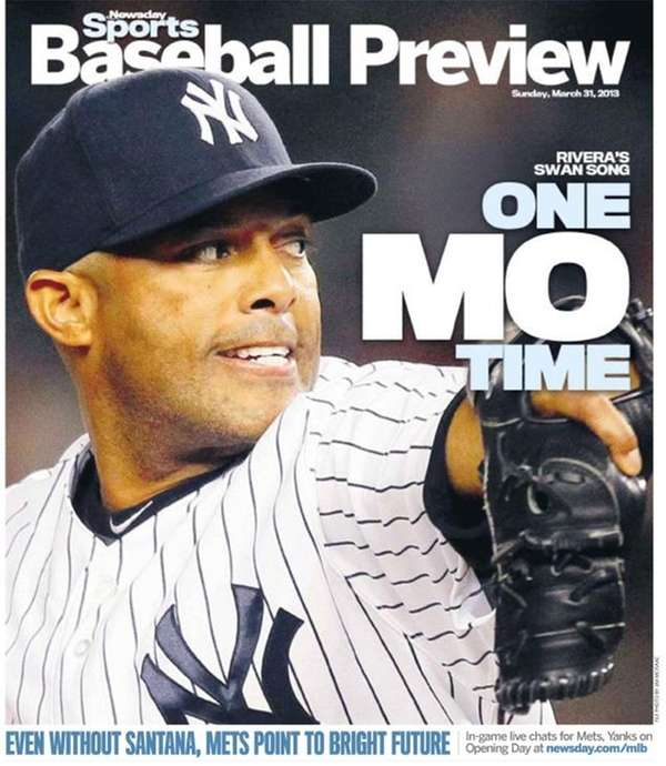 The cover of Newsday's 2013 baseball preview.