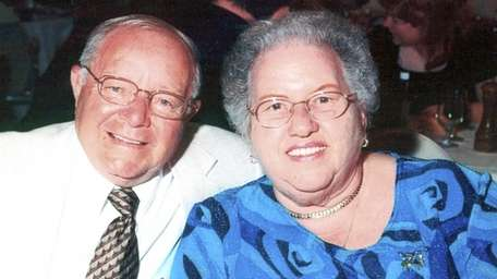Shirley Findel, with her husband Harry Findel, a