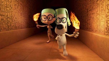 Sherman (Max Charles) and Mr. Peabody (Ty Burell)