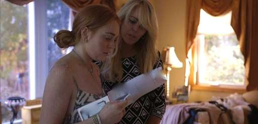 Lindsay Lohan reads from her Betty Ford Center