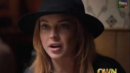 Lindsay Lohan in a preview for her reality