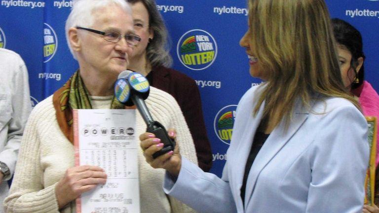 Emma Duvoll, 75, of the Bronx, won $1