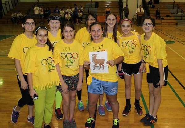 Carle Place Middle School held a mock Olympics