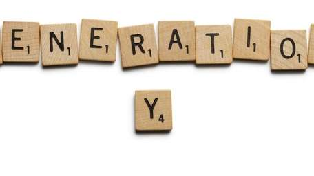Generation Y spelled out with block letters.