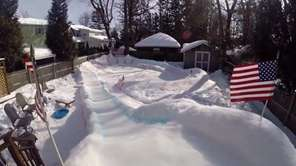 After heavy snow fall on Long Island,