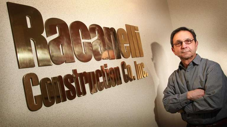Anthony Inzirillo, project manager for Racanelli Construction Co.,