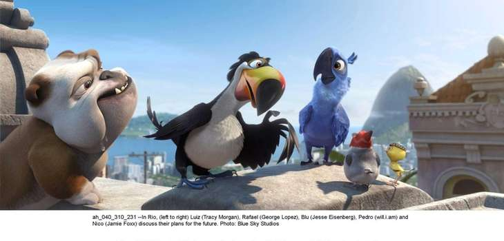 "The animated birds are back in ""Rio 2."""