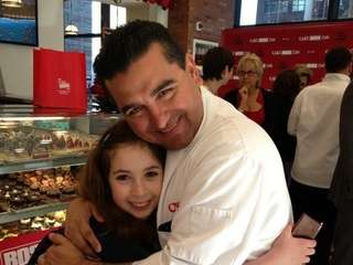 Eleven-year-old Carrie Berk with quot;Cake Bossquot; star Buddy