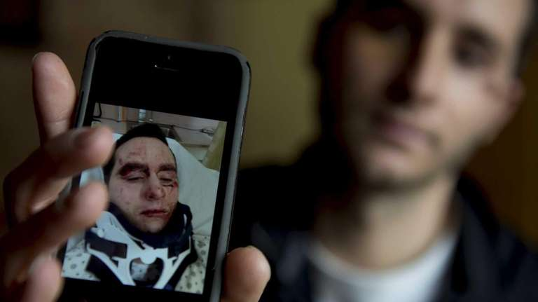 Kyle Rogers, 23, at his Rockville Centre home