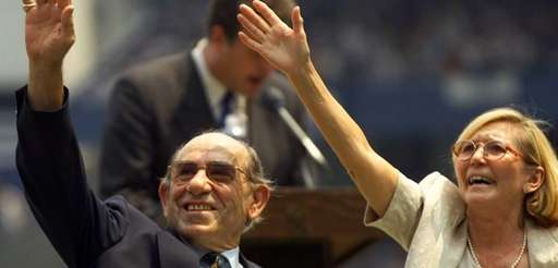 Yankees legend and catcher Yogi Berra and his