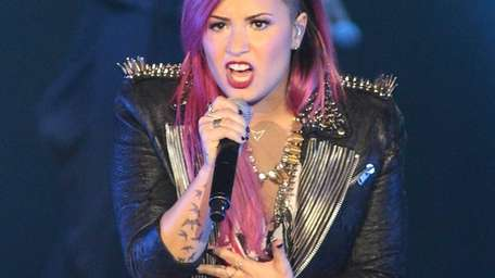 Demi Lovato performs during her