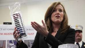 Nassau District Attorney Kathleen Rice announces a takedown