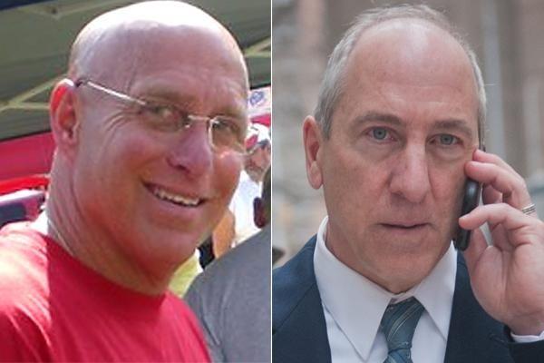 (L-R) Former LIRR inspector Robert Ellensohn, 59, who