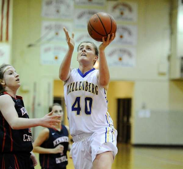 Candace Belvedere of Kellenberg shoots at the basket