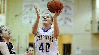 Candace Belvedere of Kellenberg shoots at the basket
