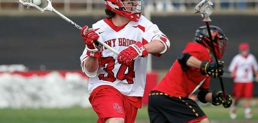 Stony Brook's Chris Hughes fires a shot on