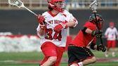Stony Brook's Chris Hughes fires a shot on