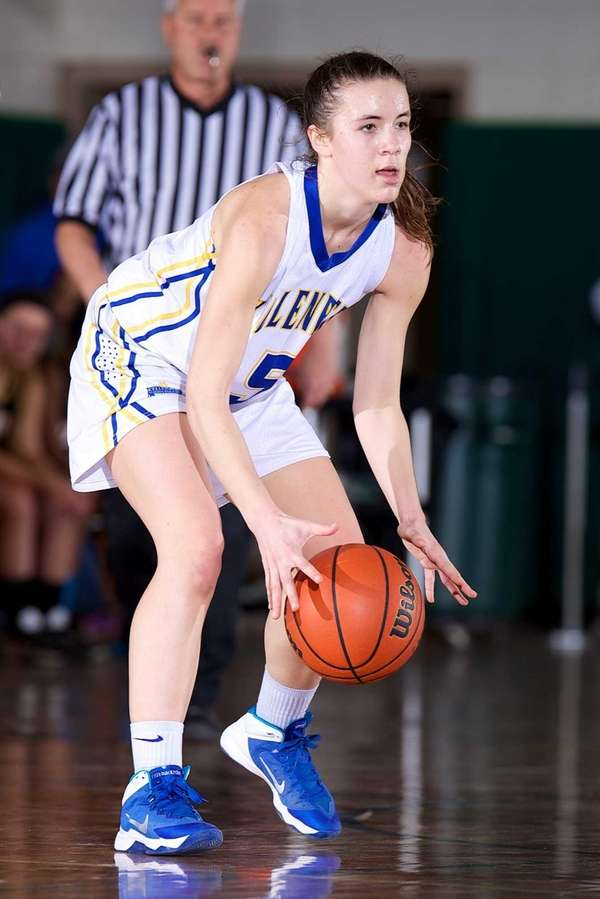Kellenberg's Stacy Madelmayer handles the ball in the