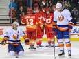 From left, Mike Cammalleri, T.J. Brodie, Mark Giordano,