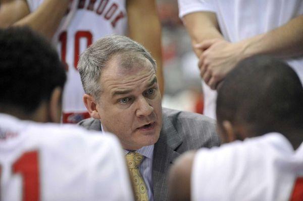 Stony Brook head coach Steve Pikiell directs his