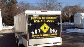 The trailer used by a nonprofit organization to