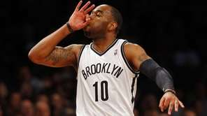 Marcus Thornton reacts after hitting a three-point shot
