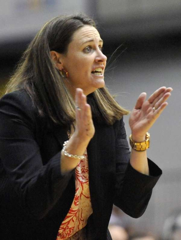 Stony Brook head coach Beth O'Boyle directs her