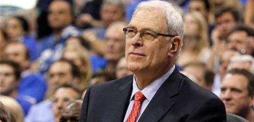 Los Angeles Lakers head coach Phil Jackson looks