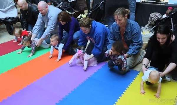 The Smith Haven Mall?s Diaper Derby on March